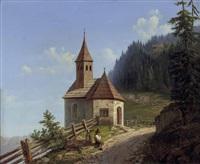 rast bei der bergkapelle by carl gelb