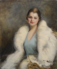 woman in a fur coat by marietta cotton
