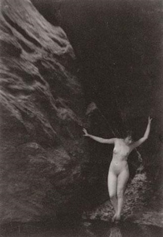 nude beside a cliff by clarence hudson white