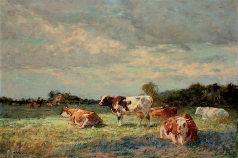 vaches au pâturage by adrien gabriel voisard margerie