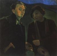 önarckép a muvész menyasszonyával (self portrait with the artist's bride) by endre hegedüs
