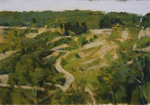 winding road in the valley by bryan westwood