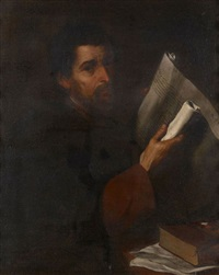 saint luc by salvator rosa