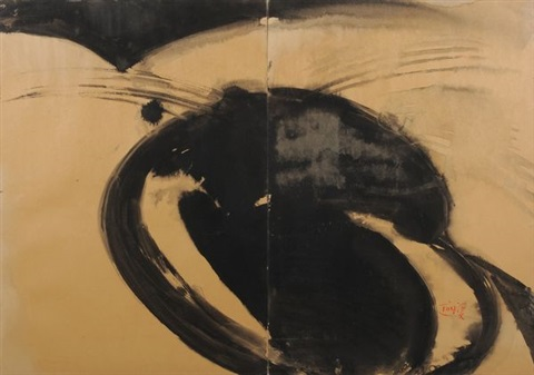sans titre diptych by tang haywen
