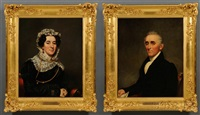portraits of general jonas mapes and elizabeth (tylee) mapes (pair) by samuel lovett waldo