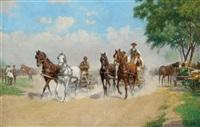 am weg zum pferdemarkt by hermann reisz