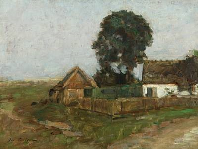 farm scenery by julius paulsen