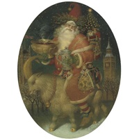 santa claus in london by gennady spirin