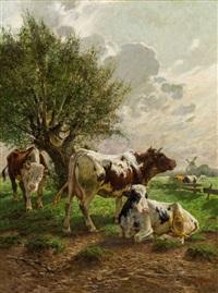 kühe auf der weide by constant troyon