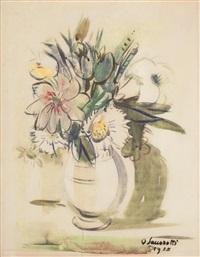vaso con fiori by oscar saccorotti
