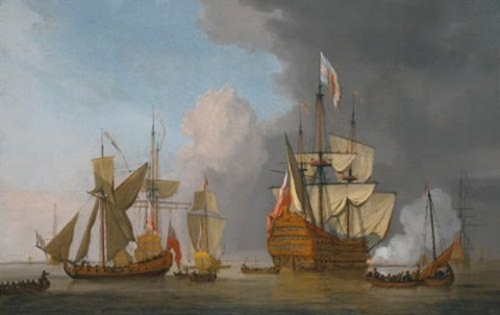 Image result for Sovereign of the Seas Willem Van de Velde