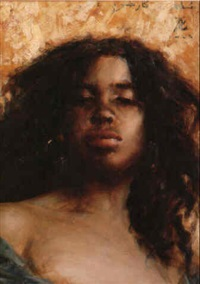 portrait de soudanaise by georges gasté