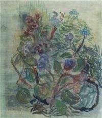 flowers in the garden by otto niemeyer-holstein