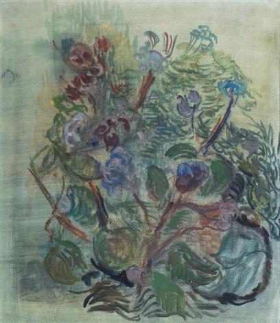 flowers in the garden by otto niemeyer holstein