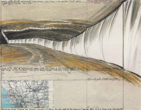 running fence project for sonoma county and marin county state of california by christo and jeanne claude