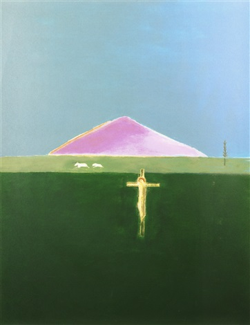 crucifixion and mountain by craigie aitchison