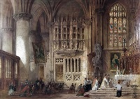 view of the interior of toledo cathedral (after thomas allom) by arthur allom