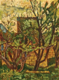 landscape in safed by arieh allweil