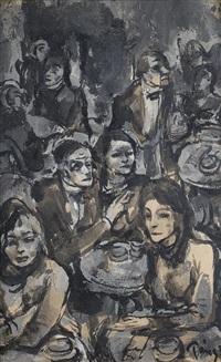 bar scene by imre perely