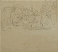 la morte di cristo; figure; l'accusa (3 works) by gaetano forte