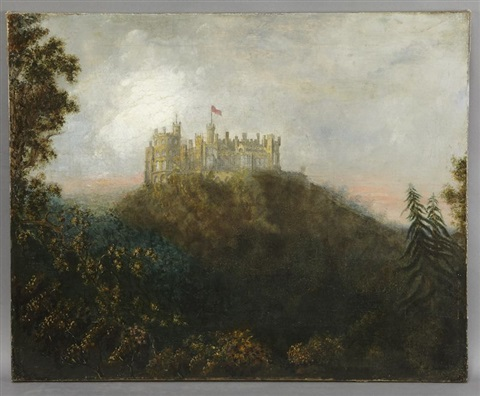 below castle rutlandshire by patrick nasmyth