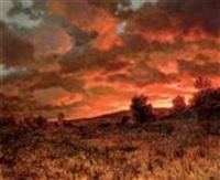 paysage au crépuscule by choulste