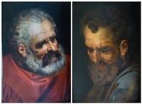 figures d'apôtres (2 works) by frans floris the elder