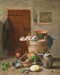 konyhai csendélet by josef mansfeld