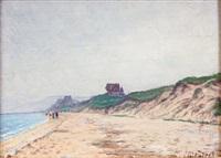 la plage à cabourg by anatole eugène hillairet