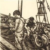 les deux pêcheurs by georges bauquier