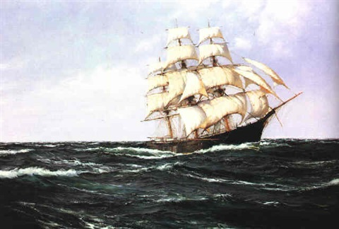 the clipper ship red jacket by montague dawson on artnet