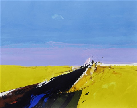 landscape yellow and blue by donald hamilton fraser