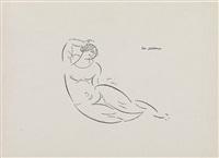 reclining nude by elie nadelman