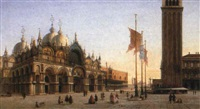 a view of the piazza san marco, venice by alexandre raulin