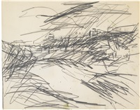 hampstead heath (study for the origin of the great bear) by frank auerbach