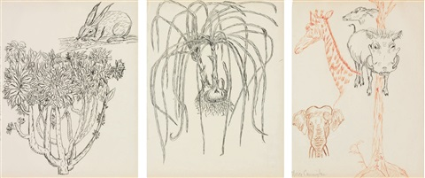 untitled rabbit onions animals in 3 parts by merce cunningham