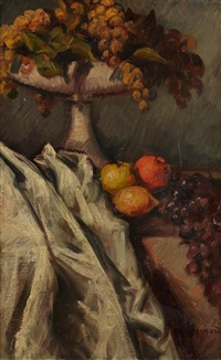 nature morte au raisin et au citron by émile bernard