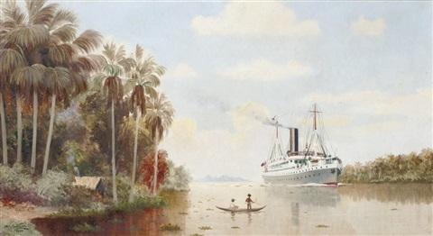 the steamship hildebrand on the mile passage up the amazon to manaus by dwe gutman