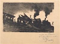 catastrophe de la chapelle / 17 janvier 1879 5 h 1/2 by dr. paul ferdinand gachet