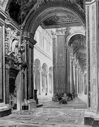interior of an italian church by enrico gaeta