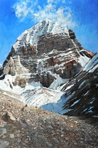 kailash, north face, tibet by hector mcdonnell
