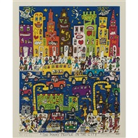 too many people in the city by james rizzi