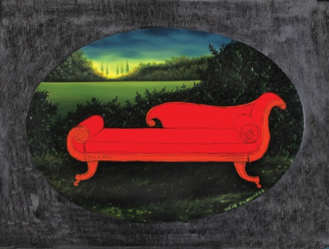Landscape With A Chaise Longue By Meir Pichhadze