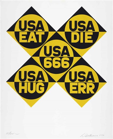 usa 666 from decade by robert indiana