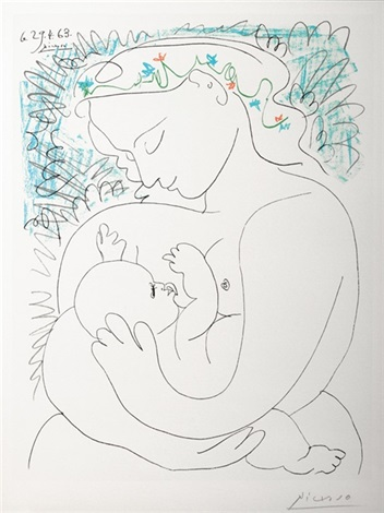 woman and child by pablo picasso