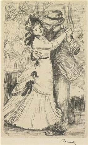 la danse à la campagne by pierre auguste renoir