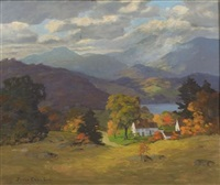 farmhouse in the valley, white mountains by james emery greer