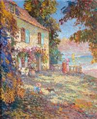 promenade au jardin fleuri by eugène bégarat