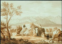 ruine von catull's wohnhaus am gardasee by heinrich adam