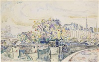 paysage de paris (landscape of paris) by paul signac